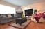 2480 SW Anchor Ave, Lincoln City, OR 97367 - Living room gas fireplace
