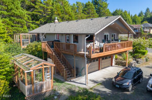1320 SW Ocean Terrace, Waldport, OR 97394 - Aerial Home and Green House