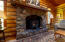 6 Troy Court, Siletz, OR 97380 - Stone Fireplace with Pellet Stove