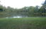 A major portion of this lake/pond is on subject property.