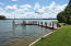 Dock with boat lift and floating dock