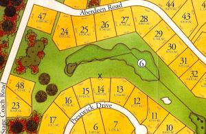 Lot 14 Highlands Plat showing acreage