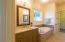 Master Bath with his and hers vanities
