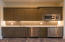 Wet Bar with beverage refrigerator and ice maker