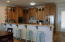 custom hickory cabinets throughout the home