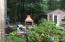 Outdoor fireplace by outdoor gazebo