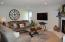 What a great open concept - Living room, den, dining room, and kitchen all together.
