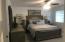 Master bedroom is conveniently located on main level.