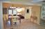 Kitchen/Dining area is centrally located