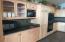 Closer views of kitchen
