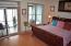 Master bedroom on third level .