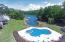 Pool and boardwalk/piers