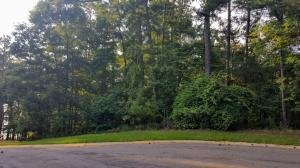 View of Lot 12 Whispering Ridge. Approximately 200 feet of road frontage that wraps into a peaceful cul-de-sac across the street from Lake Martin.