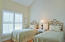 2nd Guest Room, Main House: How lovely! Waterfront view, barrel-vaulted ceiling, beautiful light, plantation shutters.