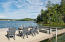 Large dock space with sunning deck, 2 boat slips, and boat lift.