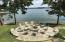Large fire pit with all the bells and whistle's overlooking one of the prettiest views on Lake Martin..