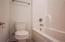 Guest bath 3 has tub