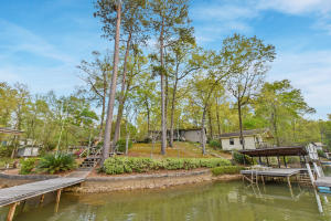 Lakeside view of both homes - Check out all the water frontage!