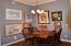 dining area in spacious open floor plan