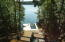 View to lake/dock with lift