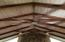 Vaulted Ceilings - all beams and ship lap are original to the home!