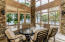 Screen porch / patio for lakeside enjoyment