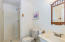 Bath in boathouse garage