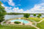 This gorgeous pool overlooks the lake and is spacious enough for large family gatherings