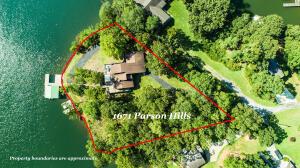 Aerial Views of 1671 Parson Hills on Lake Martin