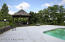 Another view of gazebo and pool area--apron of pool is quite generous.