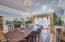 Exquisite Zubar wallpaper in Dining Room.