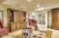 Lower level den/Billiard room.