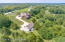 Aerial view showing the privacy that this property allows with all of the surrounding trees.
