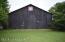 Back of horse barn