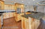Custom Knotty Hickory Cabinets with Granite Counter Tops