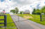 Private drive with gate to property -- brand newly paved driveway.