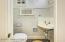 Features original corner sink