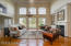 The main floor plan of the home has an open and airy concept