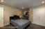 bedroom in the lower level.