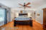 The ceiling fan keeps you cool and comfortable