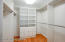 Two cavernous walk-in closets provide ample space for all of your personal belongings
