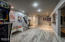 The Finished basement is designed with a large open space – perfect for a theatre space, second family room, play room, and/or workout space