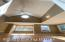 Vaulted ceiling and lots of natural lighting