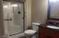 New Beautiful updated hall bath. 8'x6'