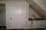 Closet and built in in bedroom