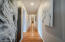 Three hall closets offer ample storage space