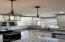 Custom Granite Island with designer lighting