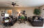 Finished walkout lower level includes 8 ft 9.5 in. ceiling height, spacious entertaining room along with a bedroom, full bath and lots of natural light.