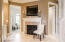 what a romantic touch! a gas fireplace in bathroom