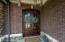 Solid wood double door entry.